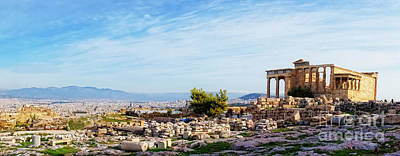 Acropolis Of Athens Panoramic Poster by HD Connelly