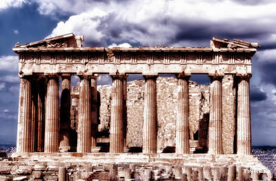 Poster featuring the photograph Acropolis Of Greece by Linda Constant