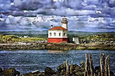 Across From The Coquille River Lighthouse Poster by Thom Zehrfeld