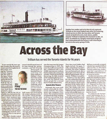 Poster featuring the painting Toronto Sun Article Across The Bay by Kenneth M Kirsch