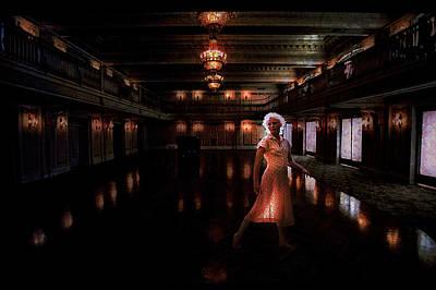Across The Dance Floor She Sees Me Poster