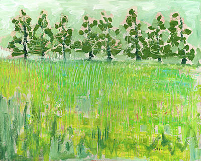 Across The Meadow Poster by Jennifer Lommers