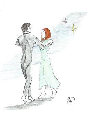 Across The Night...sketch Poster by Robert Meszaros
