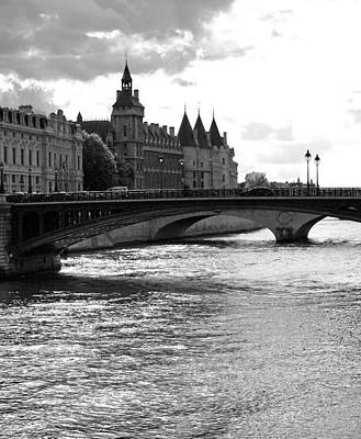 Across The Seine Poster by Chris Ann Wiggins