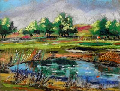 Poster featuring the painting Across The Water Hazard by John Williams