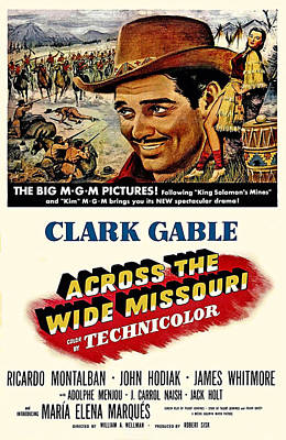 Across The Wide Missouri  Poster