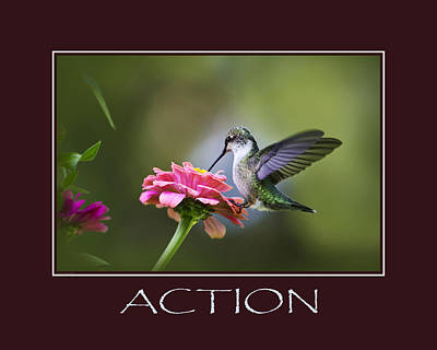 Action Inspirational Motivational Poster Art Poster by Christina Rollo