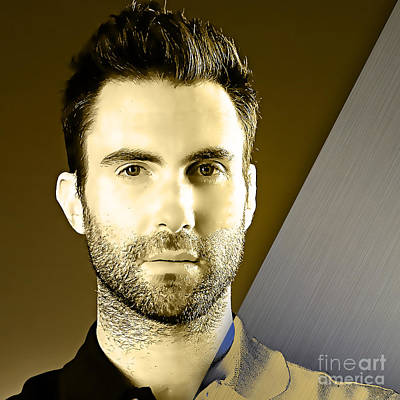 Adam Levine Collection Poster by Marvin Blaine