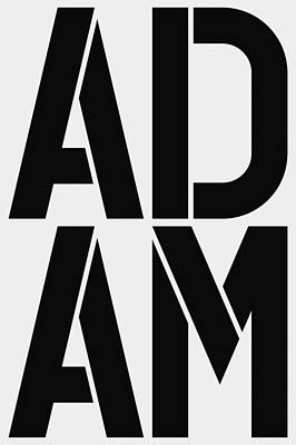 Adam Poster by Three Dots