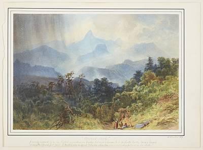 Adams Peak, Ceylon, 1870, By Nicholas Chevalier. Poster