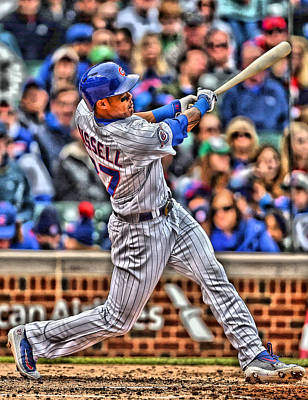 Addison Russell Chicago Cubs Poster by Joe Hamilton