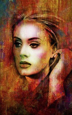 Adele Poster by Elena Kosvincheva