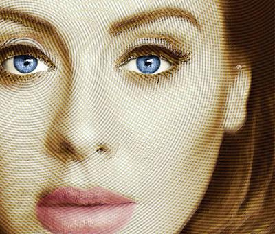 Adele Painting Circle Pattern 1 Poster by Tony Rubino