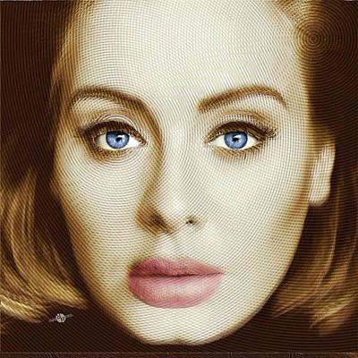 Adele Painting Circle Pattern 2 Poster by Tony Rubino