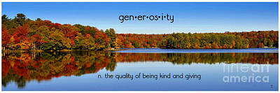 Poster featuring the photograph Adirondack October Generosity by Diane E Berry