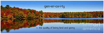Adirondack October Generosity Poster by Diane E Berry