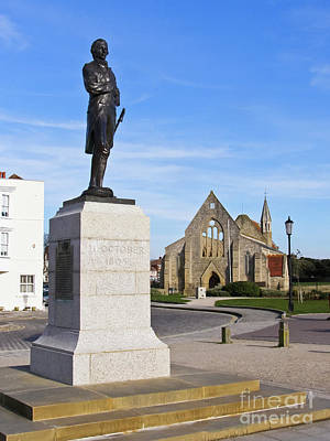 Admiral Lord Nelson And Royal Garrison Church Poster by Terri Waters