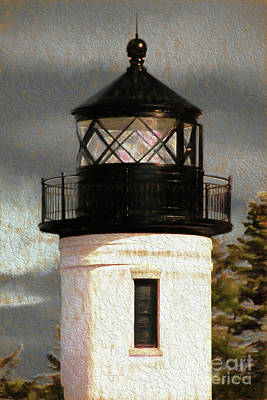 Admiralty Head Lighthouse Tower Poster by Cheryl Rose