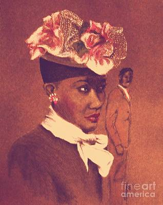 Admirer, 1947 Easter Bonnet In Amber Glow Poster by Jayne Somogy