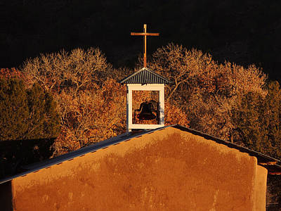 Adobe Church At San Ildefonso Pueblo In Northern New Mexico Poster