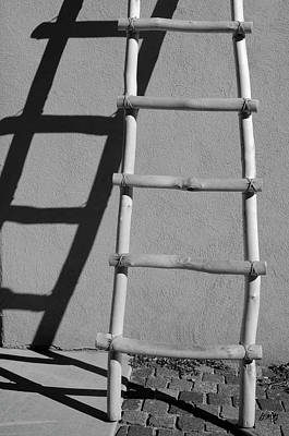 Adobe Ladder And Shadow Taos Nm Poster