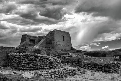 Poster featuring the photograph Adobe, Stones, And Rain by James Barber
