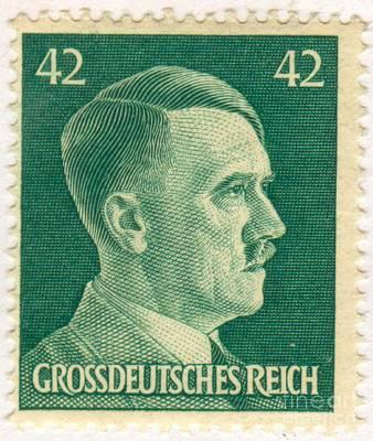 Adolf Hitler 42 Pfennig Stamp Classic Vintage Retro Poster