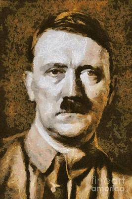 Adolf Hitler Portrait, Wwii Poster