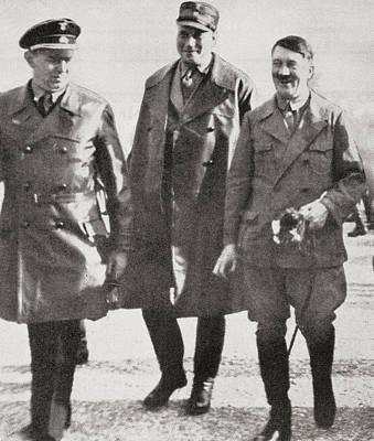 Adolf Hitler With Wilhelm Br Poster