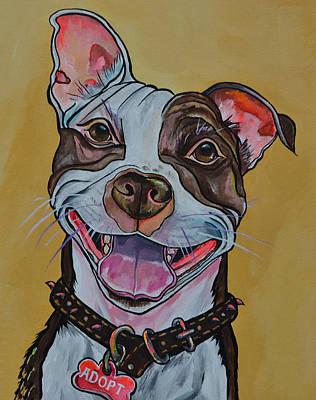 Adopt A Pit Bull Poster by Patti Schermerhorn