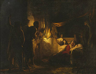 Adoration Of The Shepherds Poster by Carl Heinrich Bloch