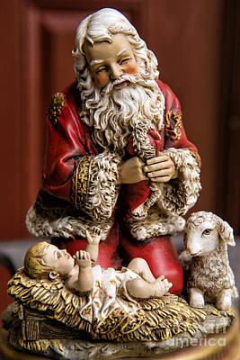 Adoring Santa Poster by Bonnie Barry