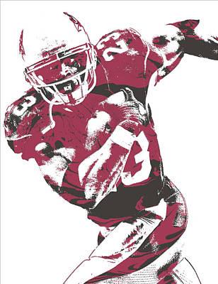 Adrian Peterson Arizona Cardinals Pixel Art 1 Poster