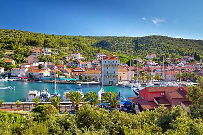 Adriatic Village Of Marina Near Trogir Poster
