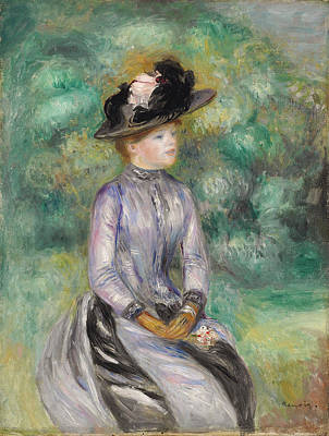 Adrienne Poster by Auguste Renoir
