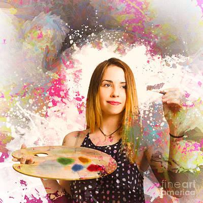 Adult Art Class Painter Poster