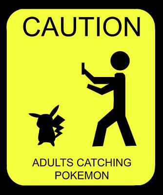 Poster featuring the digital art Adults Catching Pokemon 1 by Shane Bechler