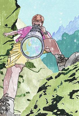 Adventuring Photographer Poster by Matt Bannister