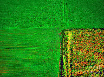 Aerial Farm Mchenry Il  Poster