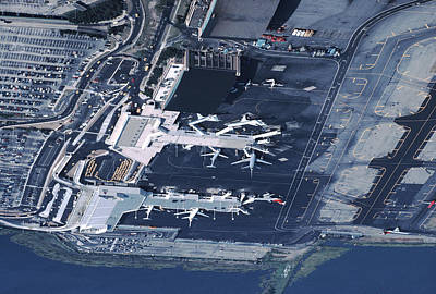 Aerial Of La Guardia Airport In New Poster