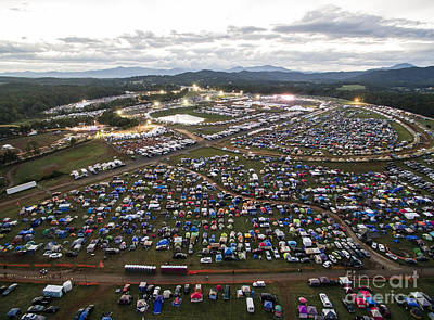 Aerial Photo Of Lockn' Festival Poster by David Oppenheimer