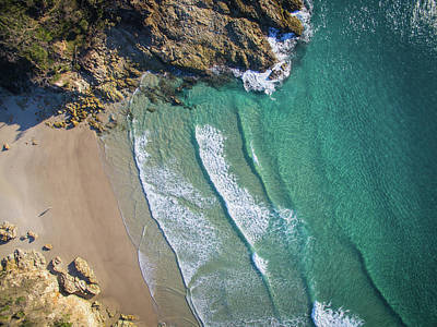 Aerial Shot Of Honeymoon Bay On Moreton Island Poster