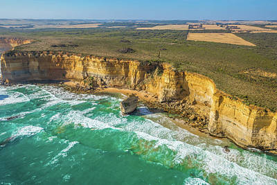 Aerial View Victorias Coast Poster
