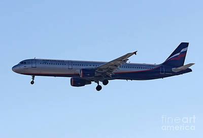Poster featuring the photograph Aeroflot - Russian Airlines Airbus A321-211 - Vq-bhk by Amos Dor