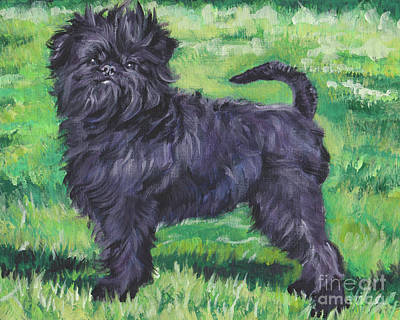 Poster featuring the painting Affenpinscher by Lee Ann Shepard