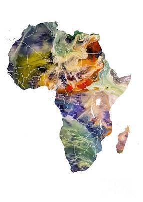 Africa Map Original Map Poster