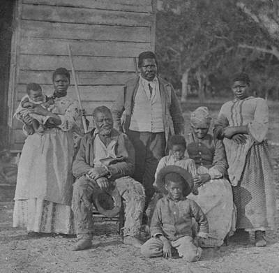 African American Slave Family Poster