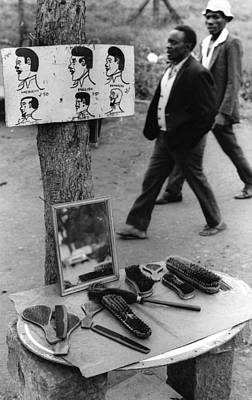 African Barber Shop Poster by Erik Falkensteen