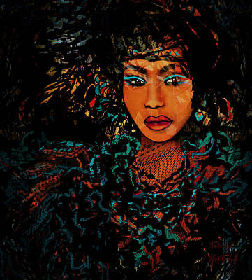 African Beauty Poster by Natalie Holland