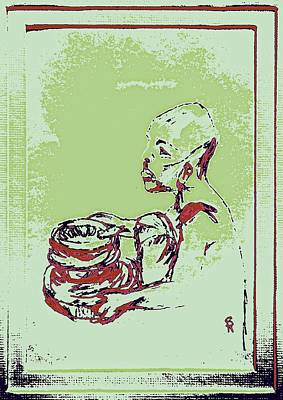 African Boy Blue Poster by Sheri Buchheit